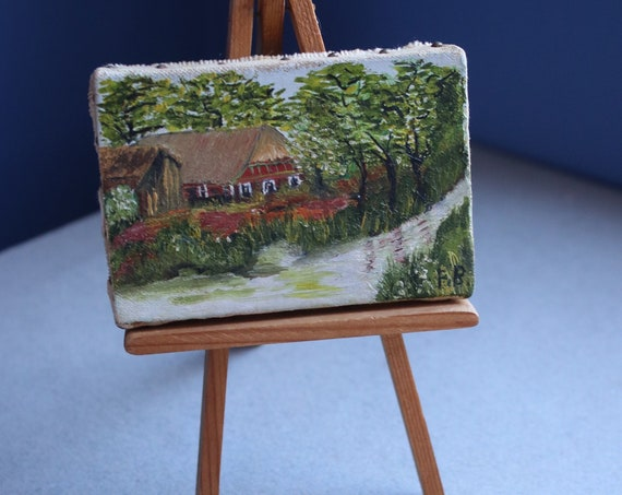 German Miniature Oil Painting with Provenance
