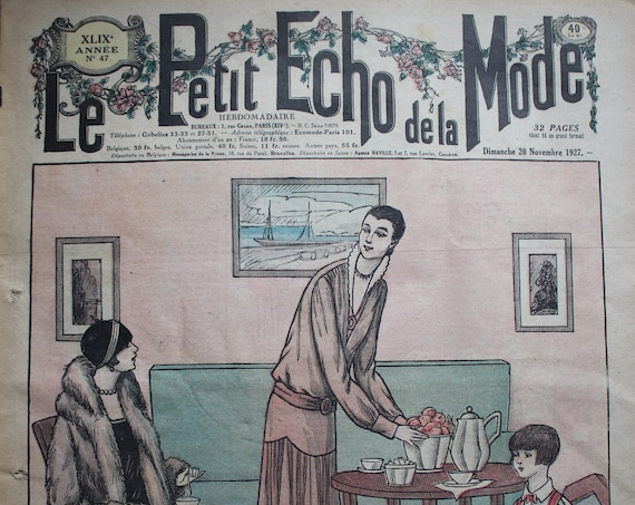 Le Petit Echo de la Mode, November 1927