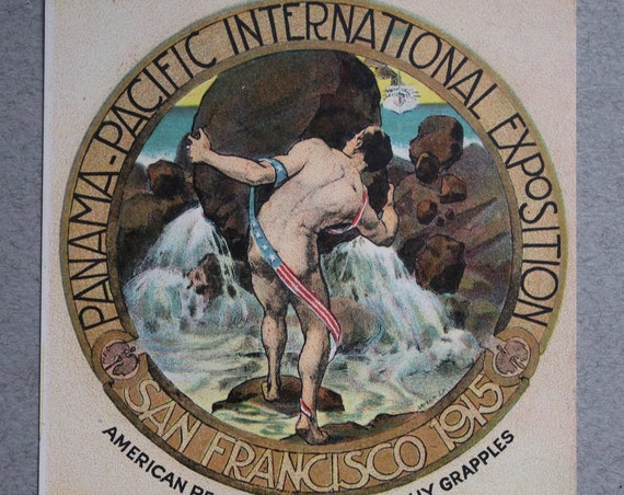 Antique Panama-Pacific International Exposition of 1915 (San Francisco) Postcard