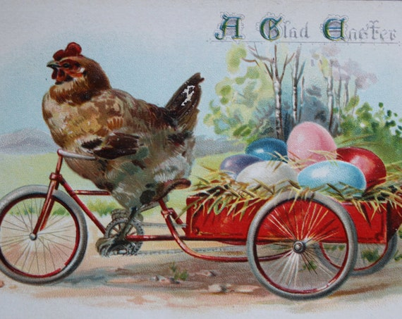 A Glad Easter, Antique Postcard by Raphael Tuck and Sons