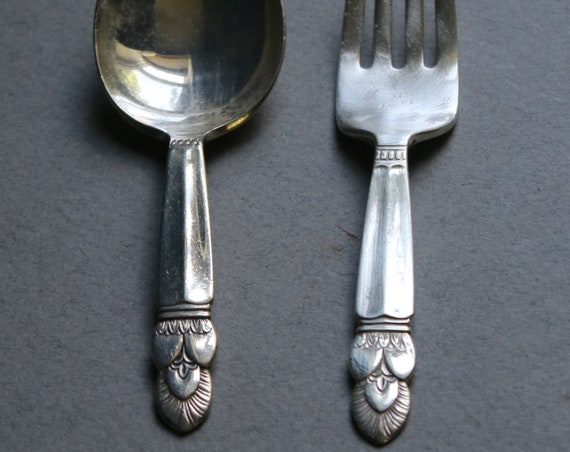 Princess Ingrid, Sterling Silver Child's Spoon and Fork by Whiting