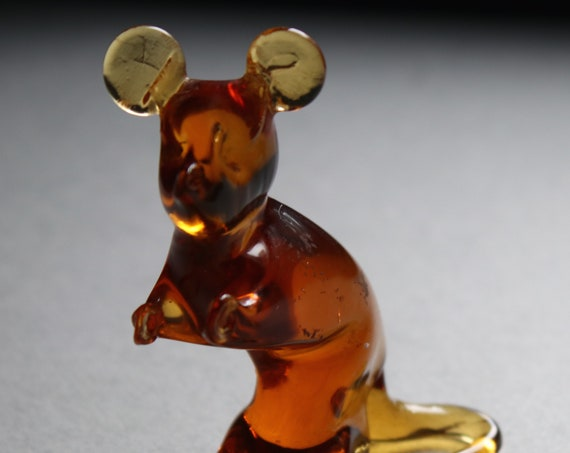 Amber Colored Glass Mouse