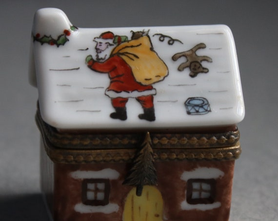 Limoges Christmas Cottage Box