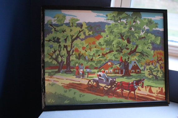Vintage Farm and Country Paint By Numbers