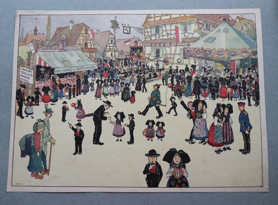 Jean-Jacques Waltz (Hansi), French Antique Print