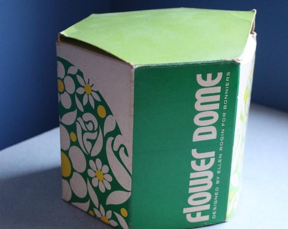 1970s Lucite Flower Dome by Ellen Rogin