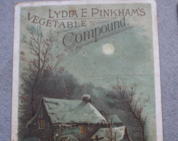 Lydia E. Pinkham's Vegetable Compound Antique Trade Card Set