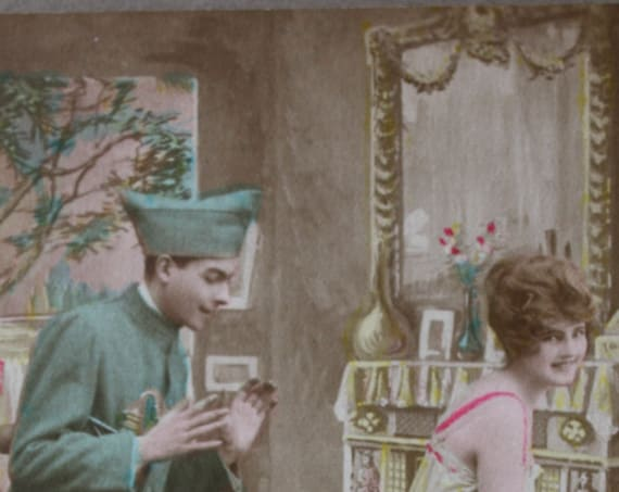 "WWI Era French Postcard, ""Les Parfums,"" by DIX Publishers of Paris"