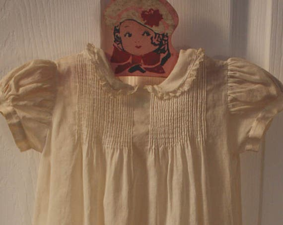 Handmade Tiny Tots Originals Ivory Child's Christening/Baptism Gown and Slip