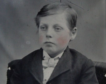 Antique Carte De Visite CDV And Tintype Of Young Boy