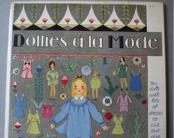 Dollies a La Mode Paper Dolls, Circa 1930s