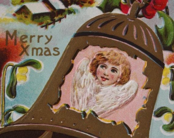Florence Bamberger Collectible Winsch Back Antique Christmas Postcard