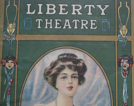 """Liberty Theatre of New York City, 1923 Playbill Program for George M. Cohan's """"Little Nellie Kelly"""""""