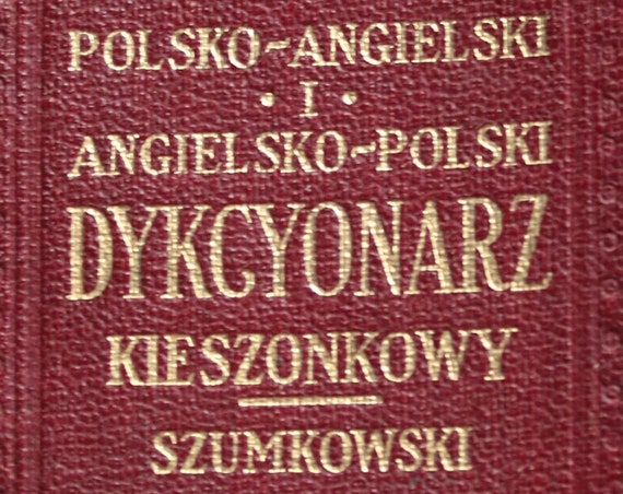 Antique, Polish-English/English-Polish Pocket Dictionary