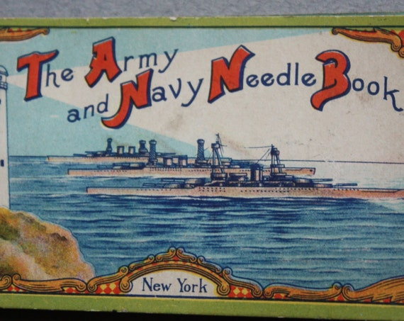 Antique The Army and Navy Needle Book