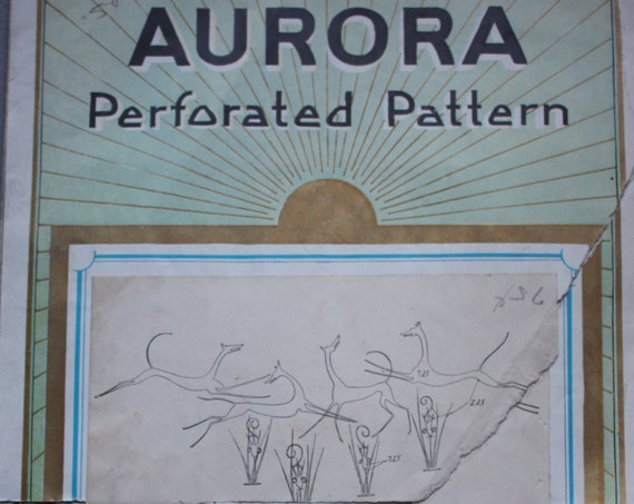 Art Deco Aurora Perforated Pattern Manufactured by A. Sartorius and Co., New York