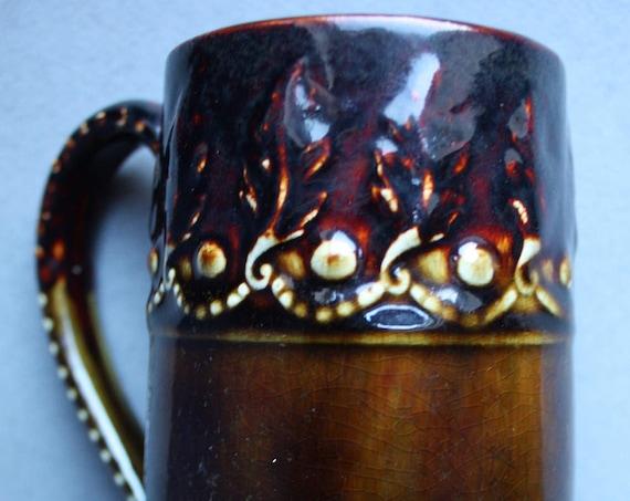 Early New England Glazed Mug by J.S. Taft and Company of Keene, New Hampshire