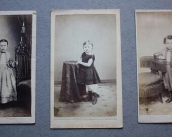 Cartes De Visite Of 1800s Era Children By Benjamin Lochman And WHS Gross Allentown PA