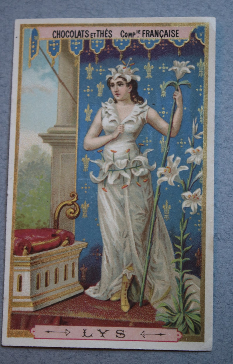Antique French Trade Card for Chocolate and Tea