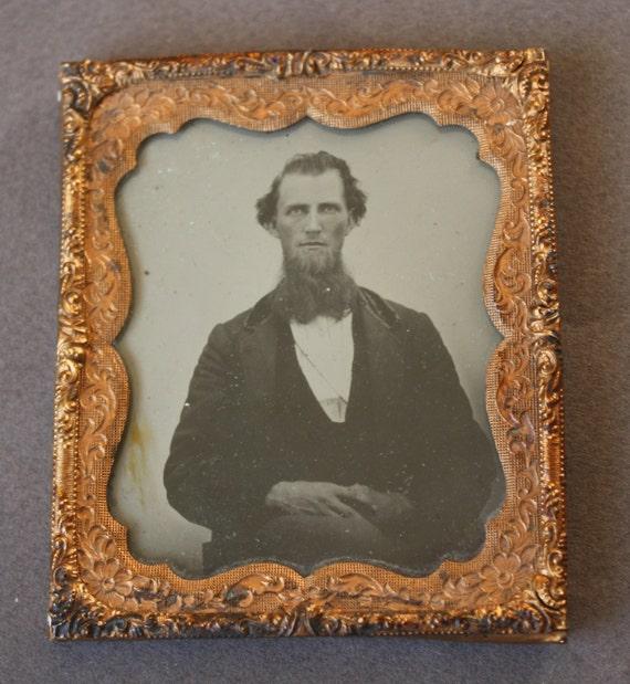 Antique Circa 1850s Ambrotype of Man