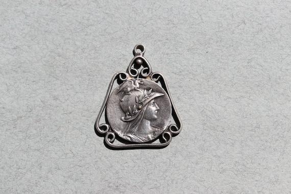 Antique, Athena, Art Nouveau Pendant from France