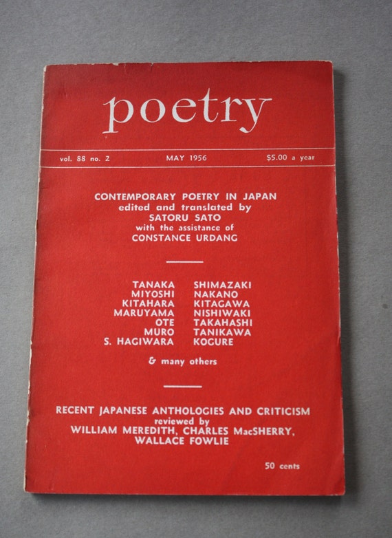 Poetry, May 1956, Contemporary Poetry in Japan