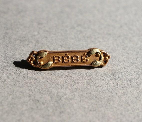 Antique, French, Bébé Brooch
