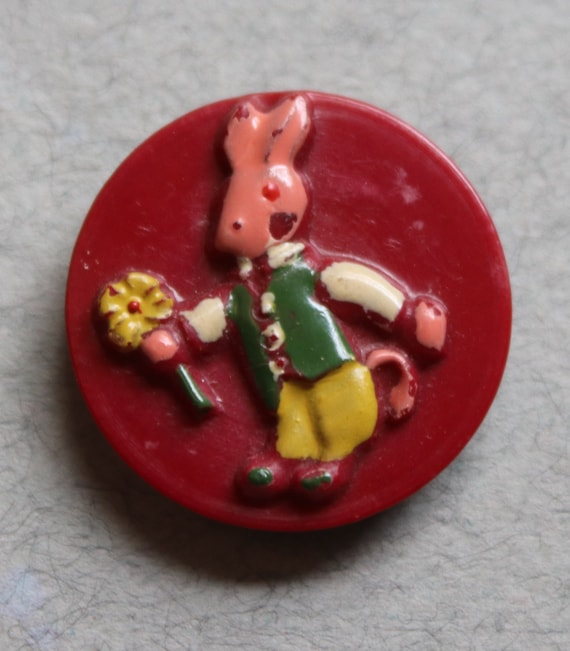 French Rabbit Buttons