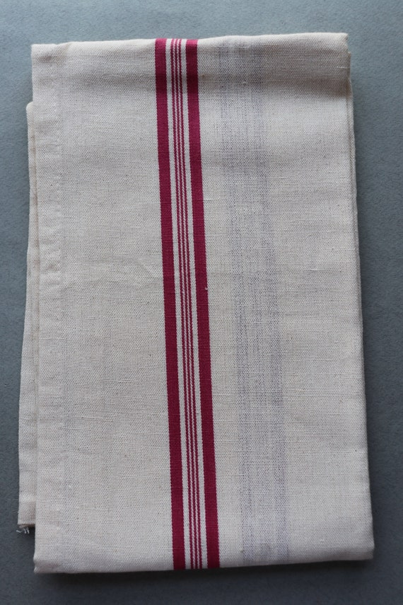 French Linen and Cotton Tea Towel, New Old Stock