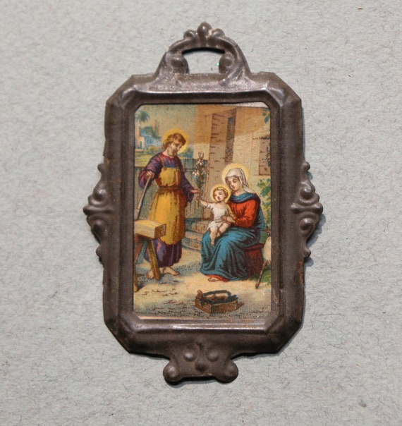 French Devotional Images of Jesus, Mary and Joseph