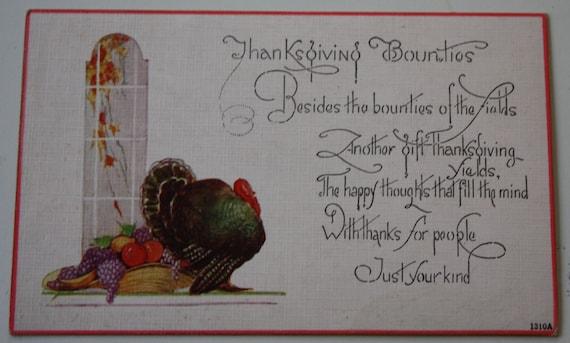 Vintage Owen Card Publishing Company Thanksgiving Winsch Back Postcard