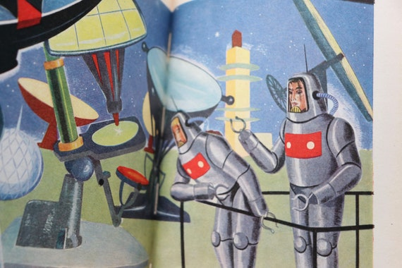 Les Robots du Mont Maudit by Emil Anton and Illustrated by Jacques Galan, French, Vintage Sci Fi