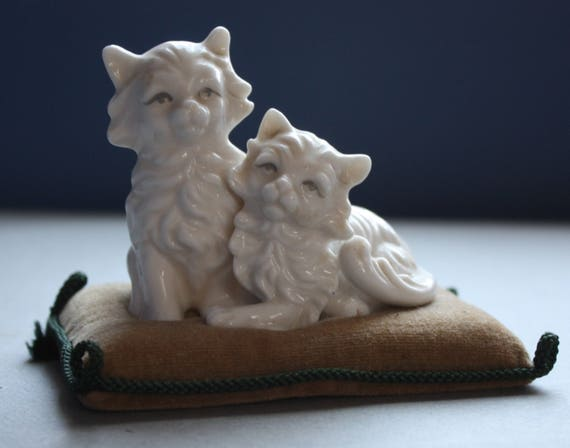 Ardalt, Lenwile China, Verithin, Made in Japan Kittens on a Pincushion