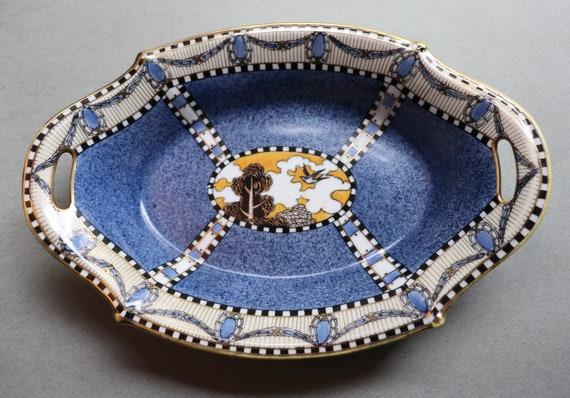 Rare, Art Deco/Secessionist Noritake Dish, Circa 1921-1924