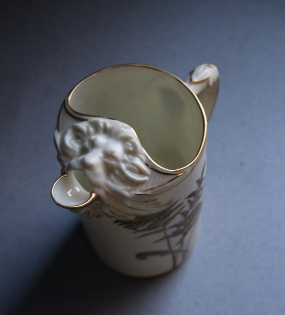 Royal Worcester (Spode) Antique Pitcher/Creamer with Lion Spout