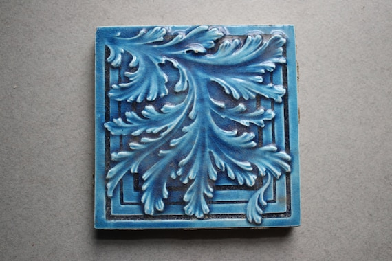 Antique Majolica Tile by CT Co