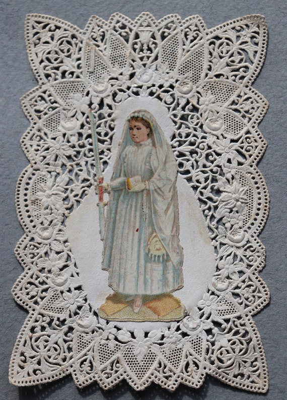 Antique, French, First Communion Canivet