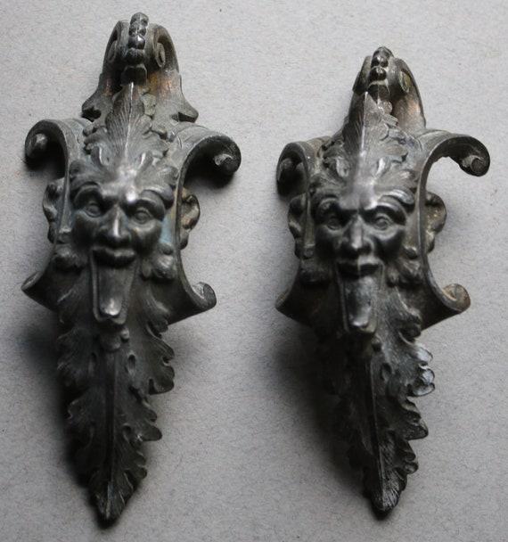 Satyr or Green Man Metal Decorative Hardware