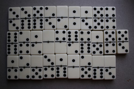 Double-Six, Ivory-Colored Spinner Dominoes Set