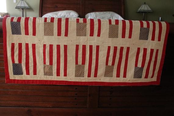 Antique, American Flag Crib Quilt