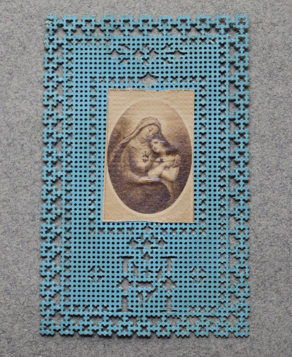 French Canivet Depicting the Sacred Heart of Mary