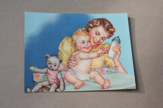 Vintage 1940s Charlotte Becker Lithograph