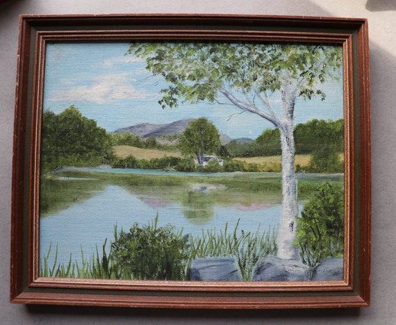 Oil Painting of Long Pond; Rockefeller Estate; Seal Harbor, Maine