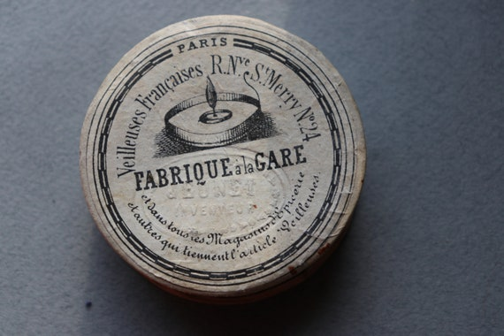 Antique, French, Candle Wicks Cardboard Box