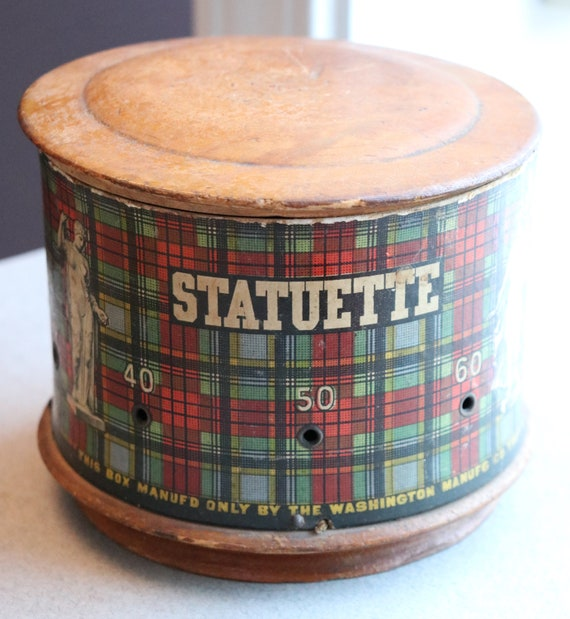 Antique, Statuette Brand Collar and Spool and Thread Box