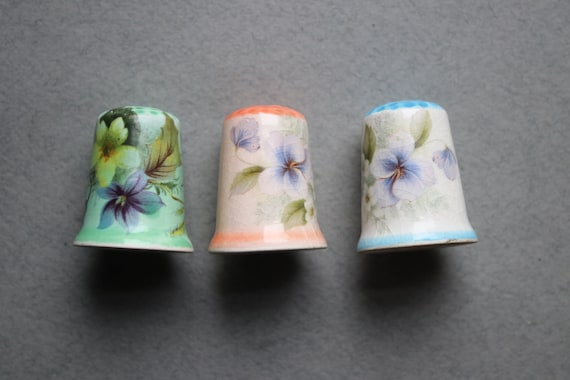 Porcelain Transferware Thimbles
