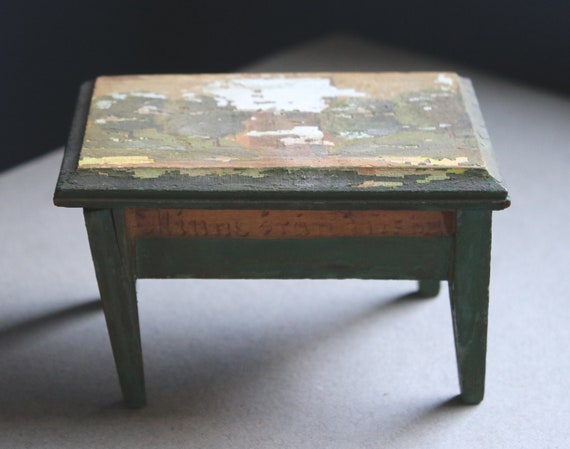 Vintage, Handmade, Swedish, Miniature Lift Lid Desk