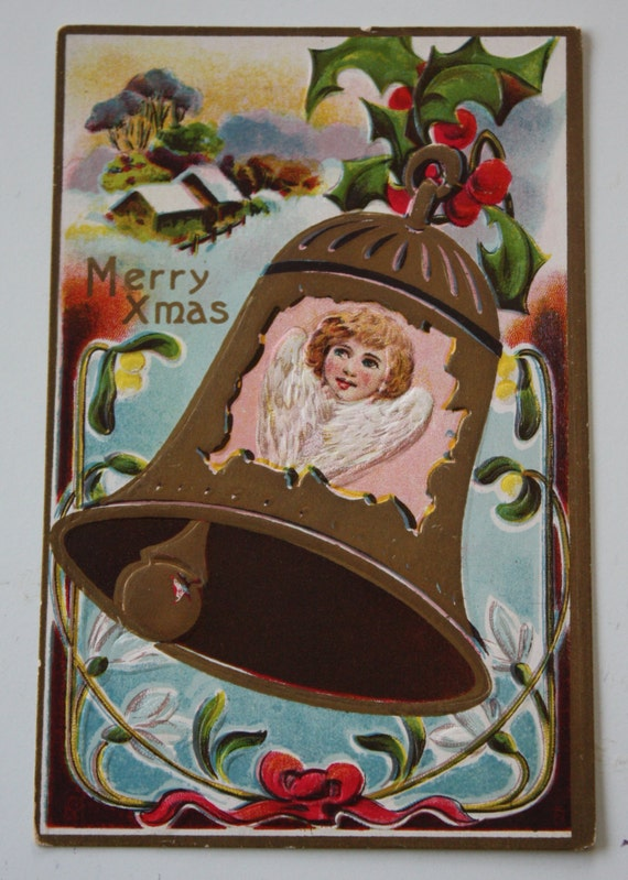 Florence Bamberger Collectible Winsch Back Antique Christmas Postcard
