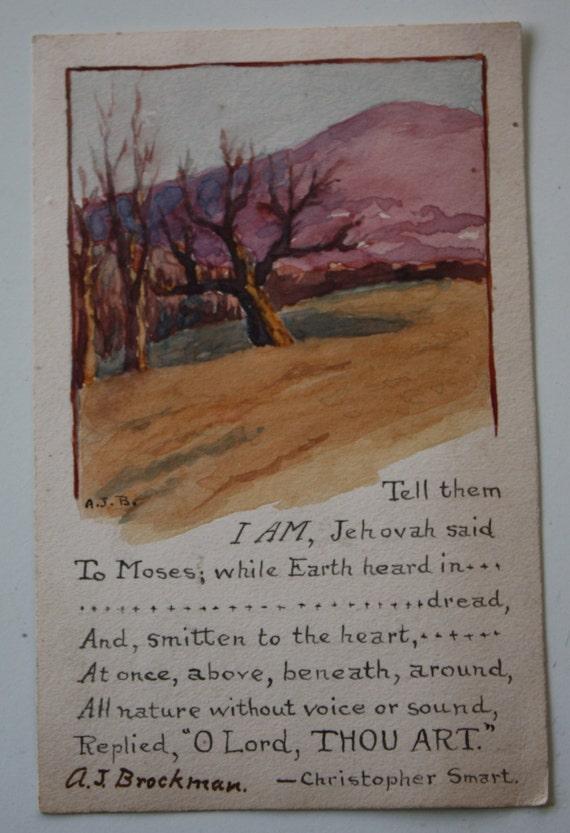 Vintage, Hand-painted, 1924 Artist Postcard