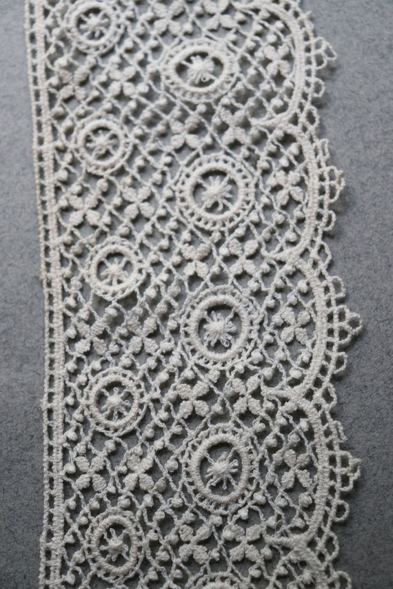 Vintage, French Lace in Ecru from Normandy